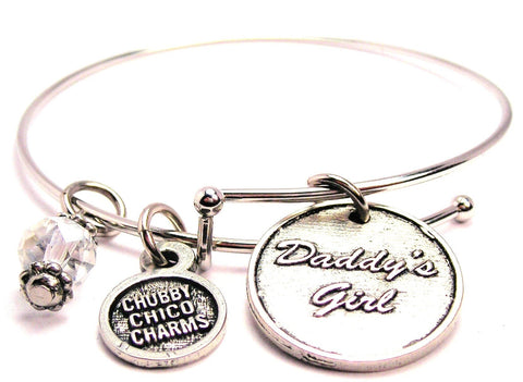 Daddy's Girl Expandable Bangle Bracelet