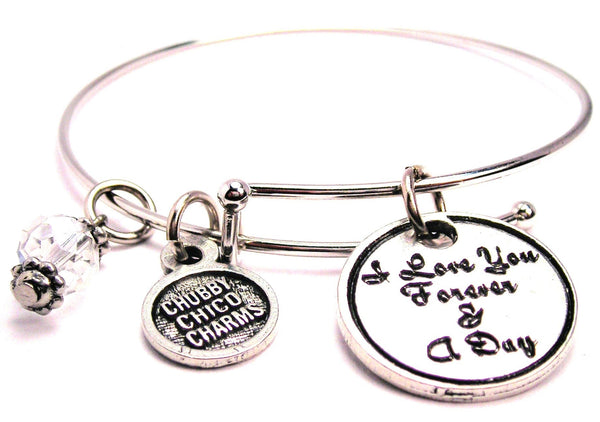I Love You Forever And A Day Expandable Bangle Bracelet