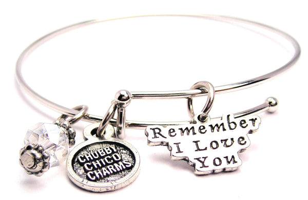 Remember I Love You Expandable Bangle Bracelet