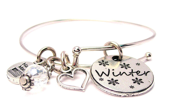 Winter Circle Expandable Bangle Bracelet