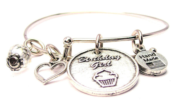 Birthday Girl Bangle Bracelet