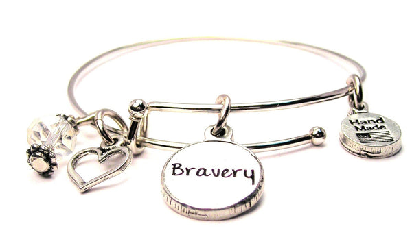 Bravery Circle Expandable Bangle Bracelet