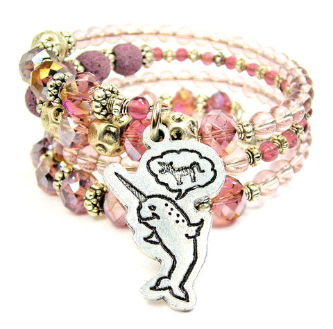 Believe In Yourself, Narwhal Wants To Be A Unicorn Multi Wrap Bracelet