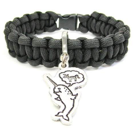 Believe In Yourself, Narwhal Believes It's A Unicorn 550 Military Spec Paracord Bracelet