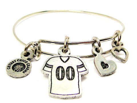 Football Jersey Choose Your Number Adjustable Wire Bangle Bracelet