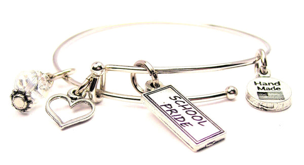 School Pride Tab Expandable Bangle Bracelet