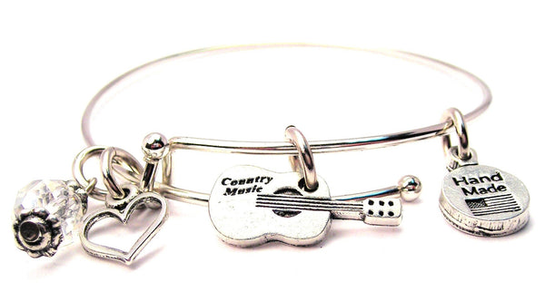 Country Music Guitar Bangle Bracelet
