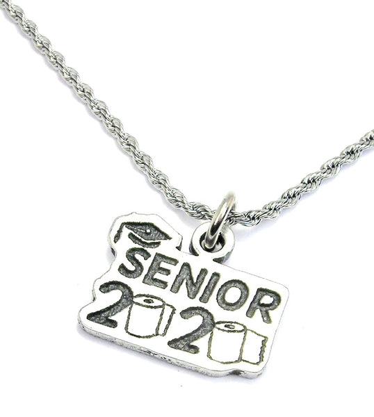 Senior 2020 rope necklace The year of the toilet paper shortage
