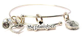 September Outline Bangle Bracelet