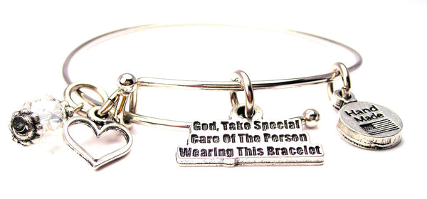 God Take Special Care Expandable Bangle Bracelet