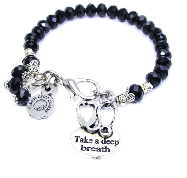 Take a breath stethoscope  Splash Of Color Crystal Bracelet