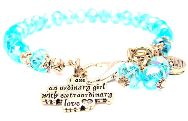 I Am An Ordinary Girl With Extraordinary Love With A Heart Splash Of Color Crystal Bracelet