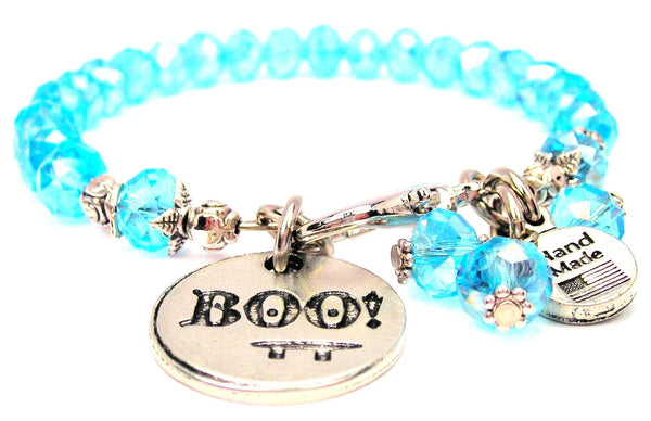 Boo With Face Splash Of Color Crystal Bracelet