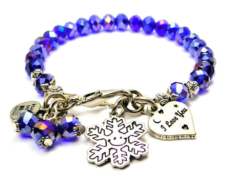 Smiling Snowflake Catalog Splash Of Color  - Sapphire