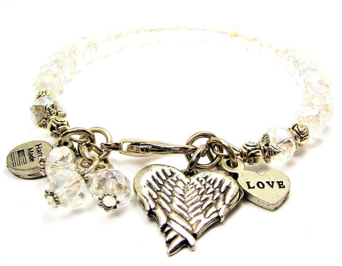 Heart Shaped Angel Wings Catalog Splash Of Color - Clear