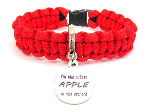 I'm The Cutest Apple In The Orchard 550 Military Spec Paracord Bracelet