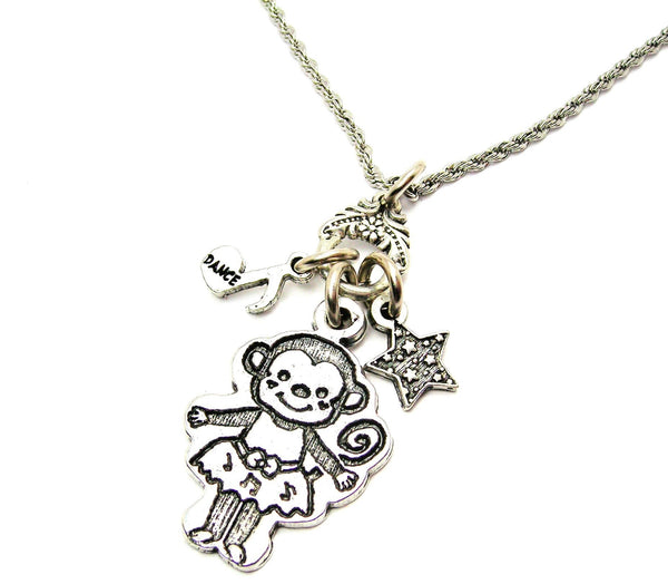 Ballerina Monkey Catalog Necklace
