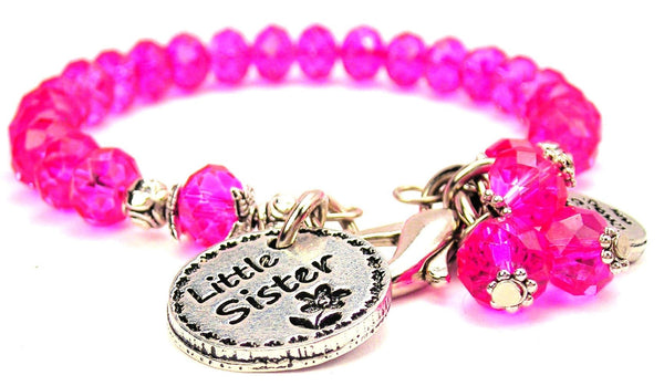 Little Sister Circle Splash Of Color Crystal Bracelet