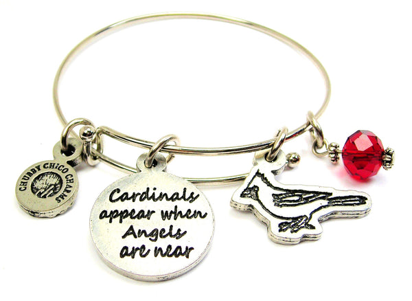 Cardinals Appear When Angels Are Near Bangle Bracelet