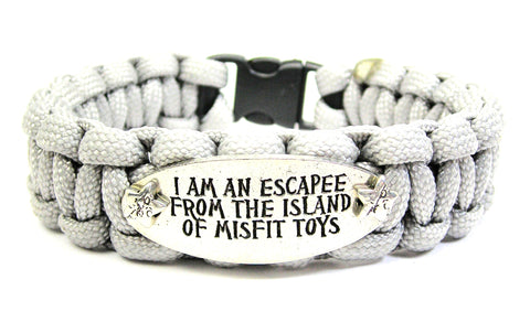 I'm An Escapee From The Island Of Misfit Toys 550 Military Spec Paracord Bracelet