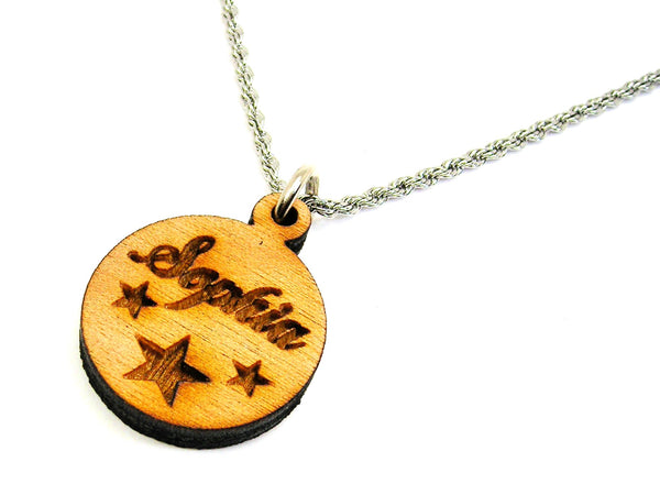 Custom Name With Stars Delicate Rope Charm Necklace
