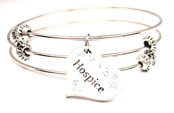 Hospice Triple Style Expandable Bangle Bracelet