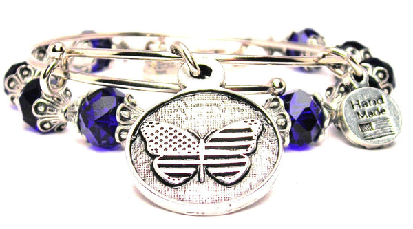 American Flag Butterfly Circle 2 Piece Collection