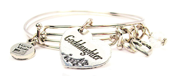 goddaughter bracelet, goddaughter bangles, goddaughter jewelry, daughter bracelet, family member jewelry