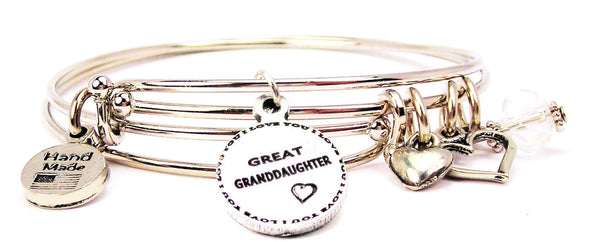 great granddaughter bracelet, great granddaughter jewelry, granddaughter bracelet, love bracelet, family member jewelry