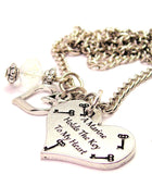 A Marine Holds The Key To My Heart Necklace with Small Heart