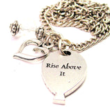 Rise Above It Balloon Necklace with Small Heart
