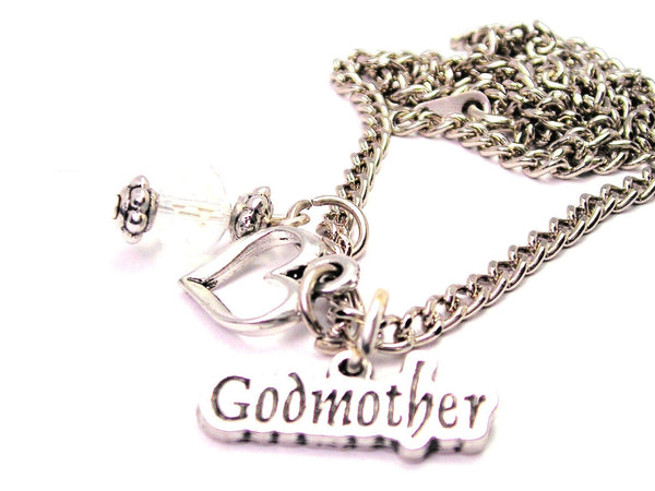 Godmother Necklace with Small Heart