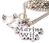 Marine Wife Stylized Necklace with Small Heart