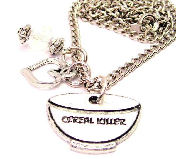 Cereal Killer Necklace with Small Heart