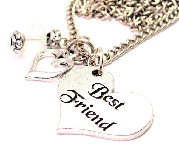 Best Friend Heart Necklace with Small Heart