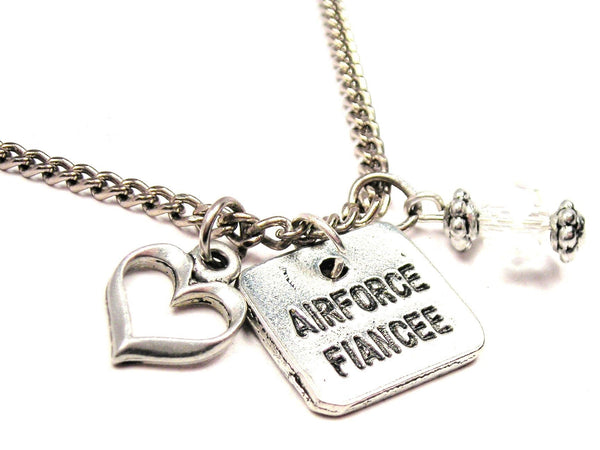 Airforce Fiancée Necklace with Small Heart