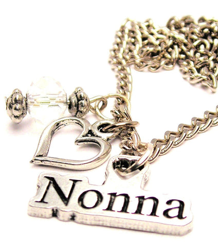 Nonna Grandmother In Italian Necklace with Small Heart