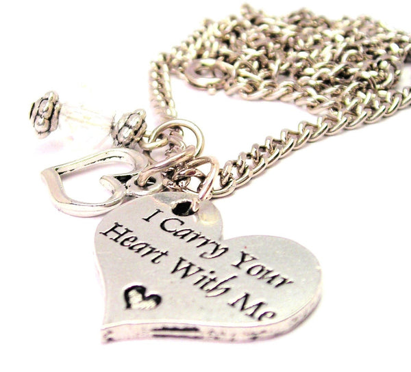I Carry Your Heart With Me Necklace with Small Heart
