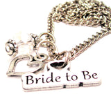 Bride To Be Necklace with Small Heart