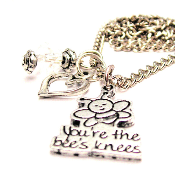 You're The Bees Knees Necklace with Small Heart