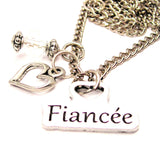 Fiancée Necklace with Small Heart