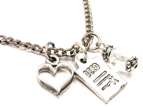 Deed Necklace with Small Heart