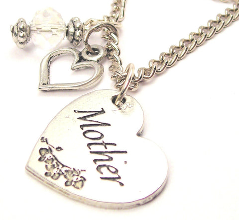 Mother Heart Necklace with Small Heart