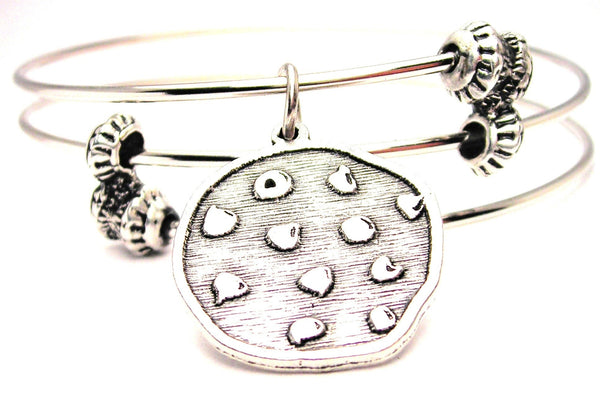 Chocolate Chip Cookie Triple Style Expandable Bangle Bracelet
