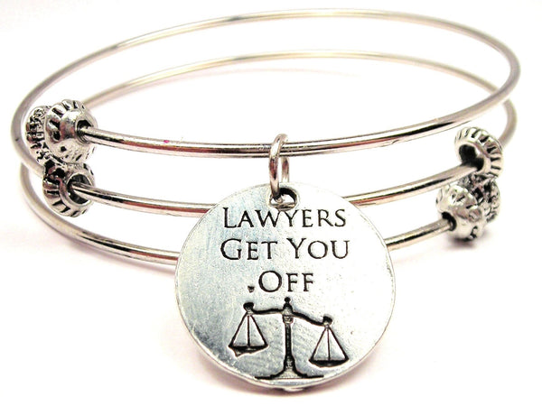 Lawyers Get You Off Triple Style Expandable Bangle Bracelet