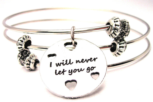 I Will Never Let You Go Triple Style Expandable Bangle Bracelet
