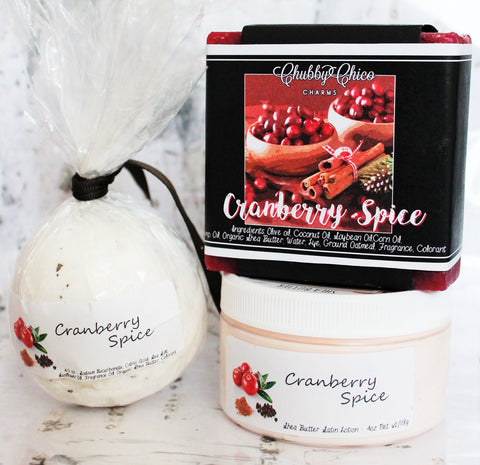 Cranberry Spice Bath Set