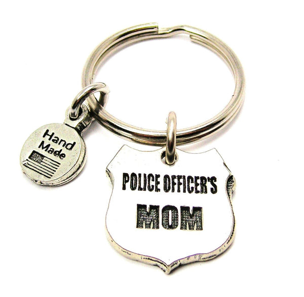 Police Officers Mom Key Chain