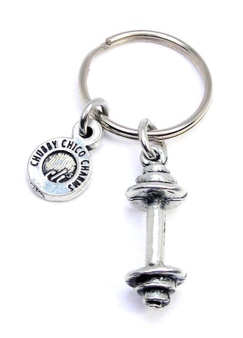 Barbell Weight Key Chain