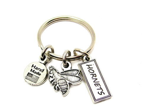 Hornet With Hornets Tab Key Chain